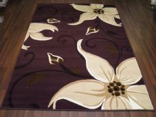 Modern 7x5ft 150x210cm Woven Backed Lily Rugs Top Quality Dk Purples BARGAINS